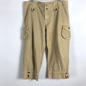 Carmar Cargo Crop Pants Camel SZ 12